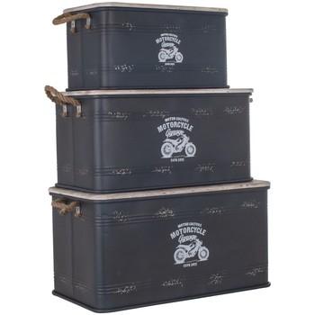 Σπίτι Κουτιά αποθήκευσης Signes Grimalt Κουτί Set Των 3 U Negro