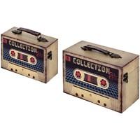 Σπίτι Κουτιά αποθήκευσης Signes Grimalt Κουτιά Set 2 U Beige