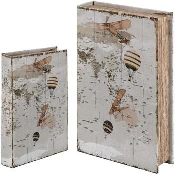 Σπίτι Κουτιά αποθήκευσης Signes Grimalt Κιβώτιο Βιβλίων Set 2 U Blanco