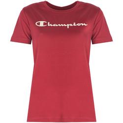 Υφασμάτινα Γυναίκα T-shirt με κοντά μανίκια Champion  Red