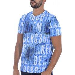 Υφασμάτινα Άνδρας T-shirt με κοντά μανίκια Bikkembergs C 4 101 00 E 2250 Μπλέ