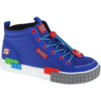 Παπούτσια Αγόρι Ψηλά Sneakers Skechers Kool Bricks Bleu marine