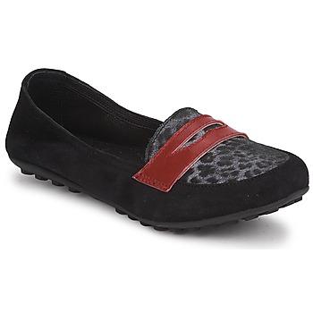 Παπούτσια Κορίτσι Μοκασσίνια Mod'8 CELEMOC JUNIOR Black / Leopard / Red