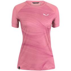 Υφασμάτινα Γυναίκα T-shirt με κοντά μανίκια Salewa Koszulka  Seceda Dry W 28070-6570 pink