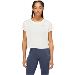 Υφασμάτινα Γυναίκα T-shirt με κοντά μανίκια Asics Nagare SS Top Blanc