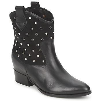Παπούτσια Γυναίκα Μπότες Alberto Gozzi GIANNA  Velour-Nero