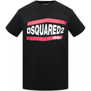 Υφασμάτινα Άνδρας T-shirt με κοντά μανίκια Dsquared S74GD0639 Black