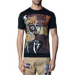 Υφασμάτινα Άνδρας T-shirt με κοντά μανίκια Dsquared S71GD0621 Black