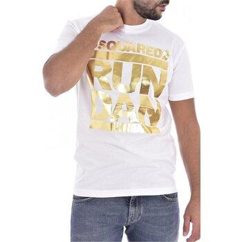 Υφασμάτινα Άνδρας T-shirt με κοντά μανίκια Dsquared S74GD0445 Άσπρο
