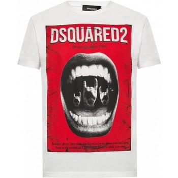 Υφασμάτινα Άνδρας T-shirt με κοντά μανίκια Dsquared S74GD0476 Άσπρο