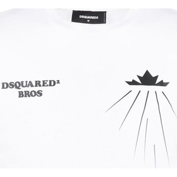 Υφασμάτινα Άνδρας T-shirt με κοντά μανίκια Dsquared S71GD0885 Άσπρο