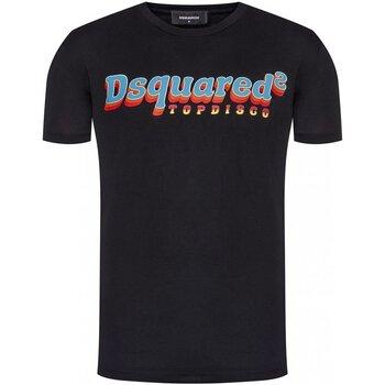 Υφασμάτινα Άνδρας T-shirt με κοντά μανίκια Dsquared S71GD0886 Black