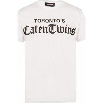 Υφασμάτινα Άνδρας T-shirt με κοντά μανίκια Dsquared S71GD0778 Άσπρο