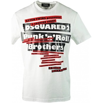 Υφασμάτινα Άνδρας T-shirt με κοντά μανίκια Dsquared S74GD0484 Άσπρο