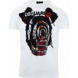 Υφασμάτινα Άνδρας T-shirt με κοντά μανίκια Dsquared S71GD0804 Άσπρο