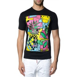 Υφασμάτινα Άνδρας T-shirt με κοντά μανίκια Dsquared S71GD0622 Black