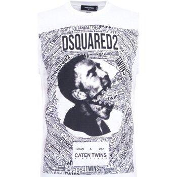 Υφασμάτινα Άνδρας T-shirt με κοντά μανίκια Dsquared S74GD0481 Άσπρο