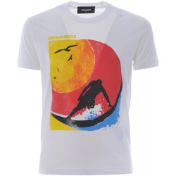 Υφασμάτινα Άνδρας T-shirt με κοντά μανίκια Dsquared S71GD0649 Άσπρο