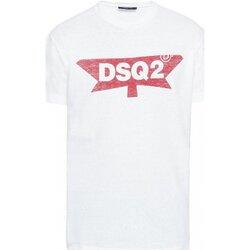 Υφασμάτινα Άνδρας T-shirt με κοντά μανίκια Dsquared S71GD0596 Άσπρο
