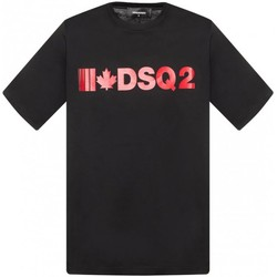 Υφασμάτινα Άνδρας T-shirt με κοντά μανίκια Dsquared S74GD0568 Black