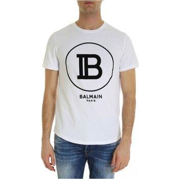 Υφασμάτινα Άνδρας T-shirt με κοντά μανίκια Balmain SH01135 I207 Άσπρο