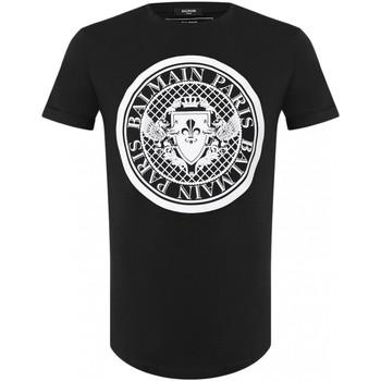 Υφασμάτινα Άνδρας T-shirt με κοντά μανίκια Balmain TH11135 I216 Black
