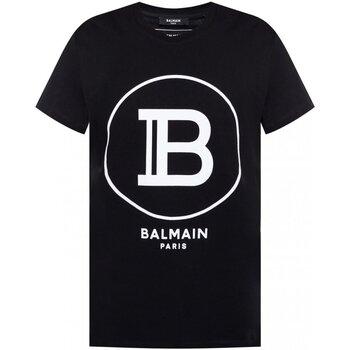 Υφασμάτινα Άνδρας T-shirt με κοντά μανίκια Balmain TH11601 I201 Black