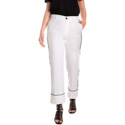 Υφασμάτινα Γυναίκα Παντελόνια Chino/Carrot Denny Rose 811DD20006 λευκό