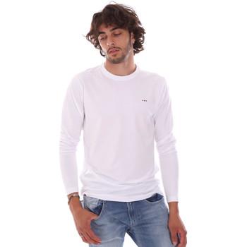 Υφασμάτινα Άνδρας Μπλουζάκια με μακριά μανίκια Key Up 2E96B 0001 λευκό