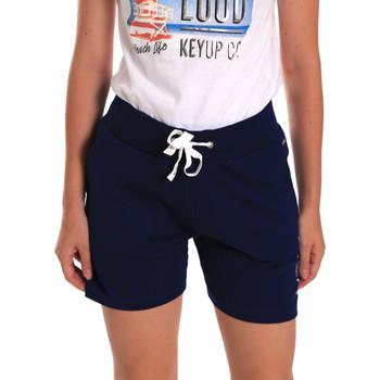 Υφασμάτινα Γυναίκα Σόρτς / Βερμούδες Key Up 5G38L 0001 Μπλε