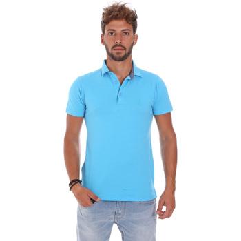 Υφασμάτινα Άνδρας Πόλο με κοντά μανίκια  Bradano 201014M Μπλε