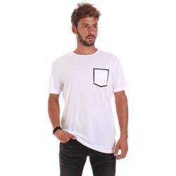 Υφασμάτινα Άνδρας T-shirt με κοντά μανίκια Antony Morato MMKS00980 FA100084 λευκό