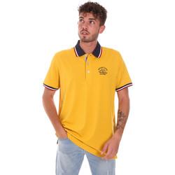 Υφασμάτινα Άνδρας Πόλο με κοντά μανίκια  Key Up 2G89R 0001 Κίτρινος