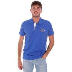 Υφασμάτινα Άνδρας Πόλο με κοντά μανίκια  Key Up 2G96Q 0001 Μπλε
