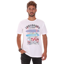 Υφασμάτινα Άνδρας T-shirt με κοντά μανίκια Key Up 2D45S 0001 λευκό