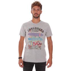 Υφασμάτινα Άνδρας T-shirt με κοντά μανίκια Key Up 2D45S 0001 Γκρί