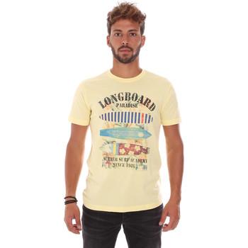 Υφασμάτινα Άνδρας T-shirt με κοντά μανίκια Key Up 2D45S 0001 Κίτρινος
