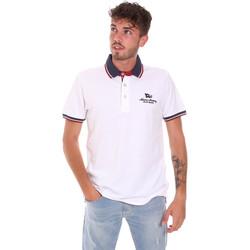 Υφασμάτινα Άνδρας Πόλο με κοντά μανίκια  Key Up 2Q60G 0001 λευκό