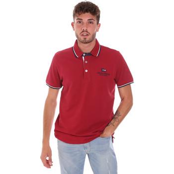Υφασμάτινα Άνδρας Πόλο με κοντά μανίκια  Key Up 2Q60G 0001 το κόκκινο