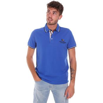 Υφασμάτινα Άνδρας Πόλο με κοντά μανίκια  Key Up 2Q60G 0001 Μπλε
