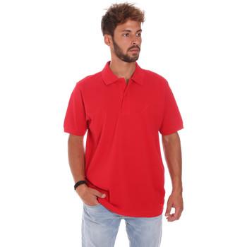 Υφασμάτινα Άνδρας Πόλο με κοντά μανίκια  Key Up 2800Q 0001 το κόκκινο
