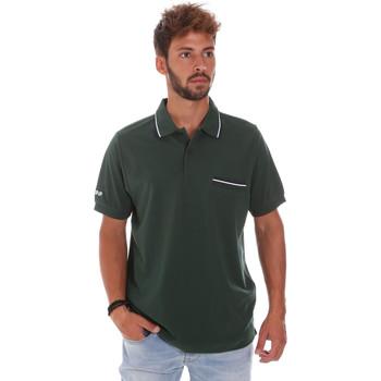 Υφασμάτινα Άνδρας Πόλο με κοντά μανίκια  Key Up 2Q827 0001 Πράσινος