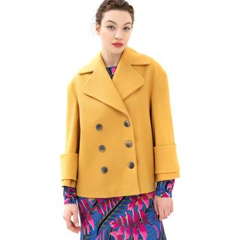 Υφασμάτινα Γυναίκα Παλτό Fracomina FR21WC1013W49301 Κίτρινος