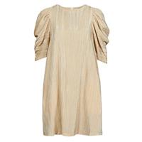 Υφασμάτινα Γυναίκα Κοντά Φορέματα Moony Mood  Beige