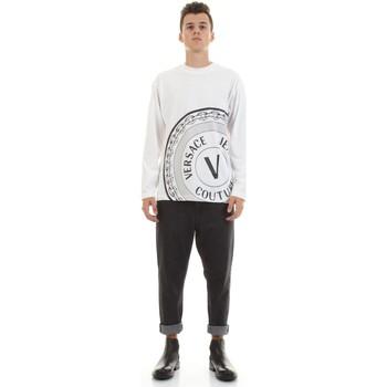 Υφασμάτινα Άνδρας Πουκάμισα με μακριά μανίκια Versace Jeans Couture 71GAHT20-CJ00T Bianco