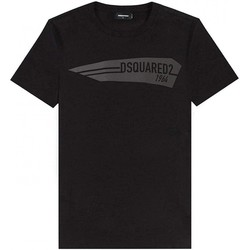 Υφασμάτινα Άνδρας T-shirt με κοντά μανίκια Dsquared S74GD0657 Black