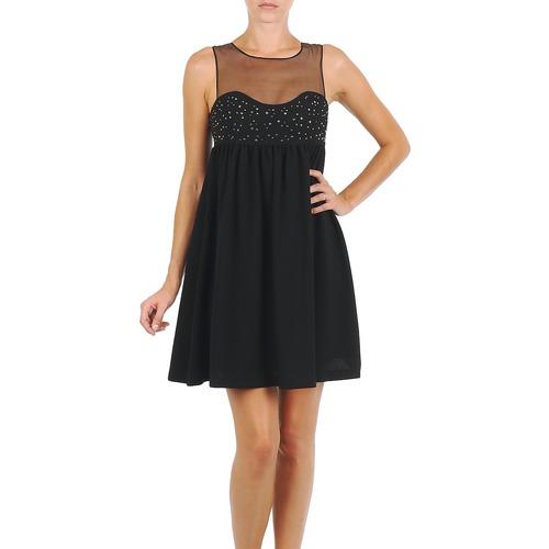 Υφασμάτινα Γυναίκα Κοντά Φορέματα Manoush ROBE ETINCELLE Black