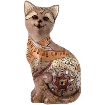 Σπίτι Αγαλματίδια και  Signes Grimalt Σχήμα Γάτα. Marrón