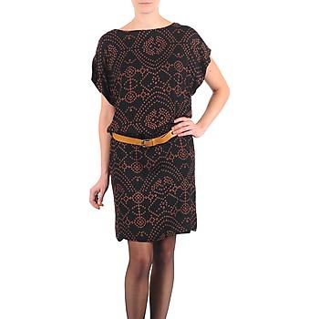 Υφασμάτινα Γυναίκα Κοντά Φορέματα Antik Batik QUINN Black