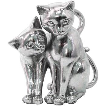 Σπίτι Αγαλματίδια και  Signes Grimalt Σχήμα Γάτες Plateado